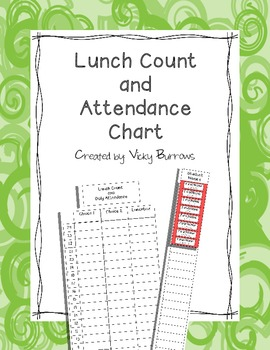 Lunch Count and Attendance Chart