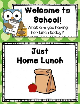 Lunch Count and Attendance Clip Chart (Editable)