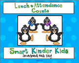 Penguin Theme - Lunch Count and Attendance for Smartboard
