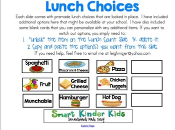 Valentine's Theme -Lunch Count and Attendance for Smartboard