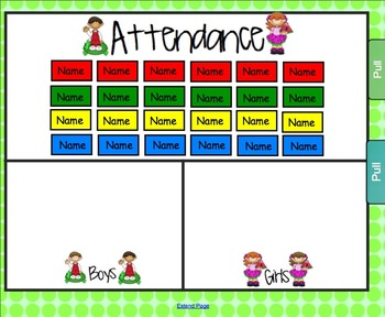 Lunch Count and Attendance for Smartboard - Watermelon