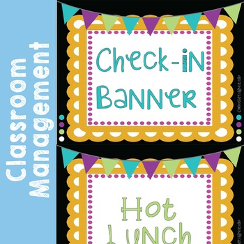 Lunch Count and Check-In Banner