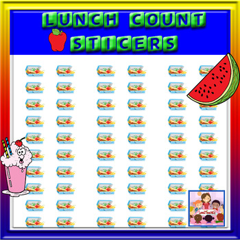 Lunch Count stickers- tray and packed lunch