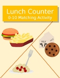 Lunch Counter 0-10 Number Matching Activity