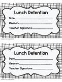 Lunch Detention Slip