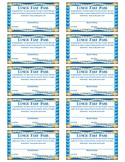 Lunch Fast Pass (A Quick and Easy Reward For Middle & Uppe