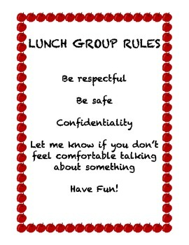 Lunch Group Rules