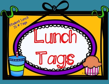 Lunch ID Card Tags
