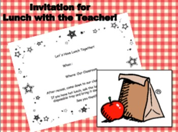 Lunch with the Teacher Invitation
