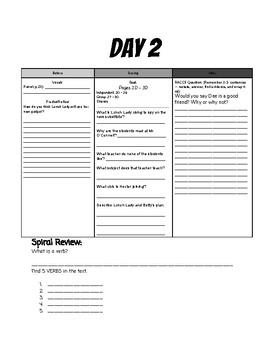 Lunch Lady and the Cyborg Substitute (Book 1) Guided Reading Packet