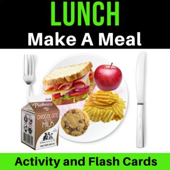 Lunch Make A Meal Activity & Flash Cards | Vocabulary | VIPKid ESL Reward