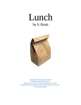 Lunch Elementary 3rd-5th Manners Play Script Drama Club Readers Theater