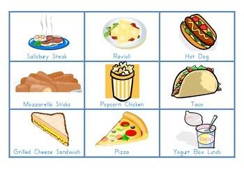 Lunch Menu Choices Blue