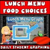 Lunch Menu Food Choices: Pictures and Graphing for Daily G