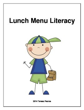 Lunch Menu Literacy