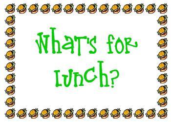 Lunch Menu Sign