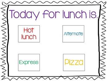 Lunch Menu Visuals