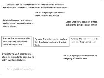 """Lunch Money""; Author's Purpose, HMH Journeys, Smartboard"
