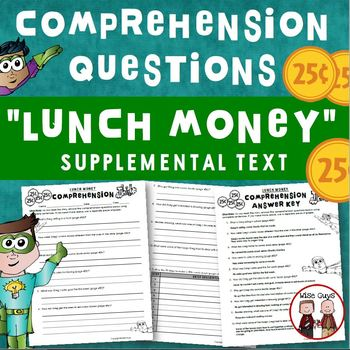 Lunch Money Comprehension Questions Activity Journeys Supp