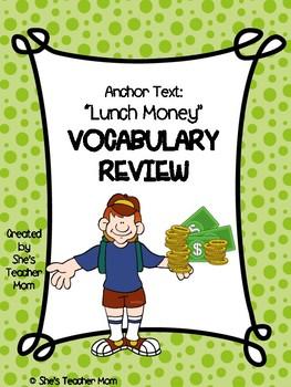 Lunch Money: Fifth Grade (Journey's Vocabulary Supplement)