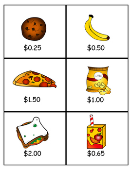 Lunch Money Game- How much does it cost?- English