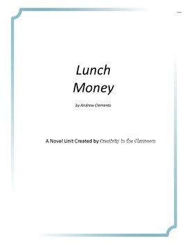 Lunch Money Novel Unit Plus Grammar