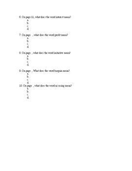 Lunch Money Quiz chapters 1-6