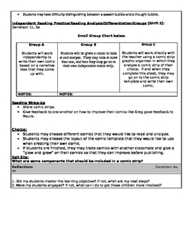 Lunch Money ReadyGen Unit 4: Module A (Fourth Grade) Comic Strip Lesson Plan