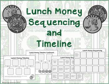 Lunch Money Novel Timeline and Sequencing Activities