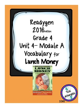 Lunch Money Vocabulary Cards