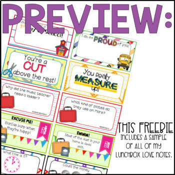 Lunch Luv Notes FREEBIE