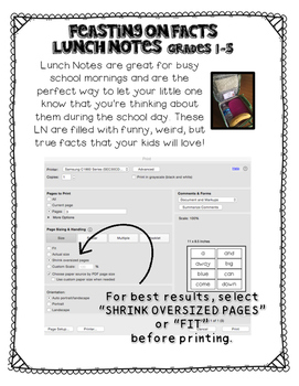 Lunch Notes: Feasting on Facts Vol.1