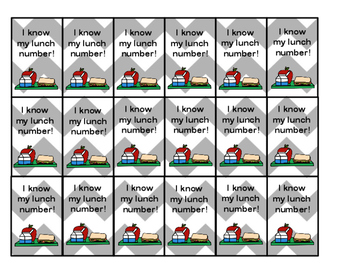 Lunch Number Brag Tags