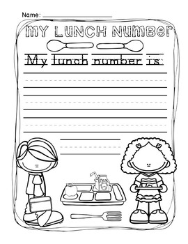 Lunch Number Practice