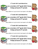 Lunch Pass Bookmark (Editable)