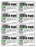 Lunch Pass Template