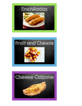 Lunch Picture Cards