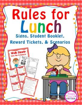 Lunch Rules {Pre-K, Kindergarten, 1st}