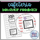 Lunch Seating Chart with Behavior Comments