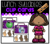 Lunch Syllables Clip Cards