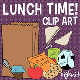 Lunch Time! Food Clip Art -- Peanut Butter Jelly Sandwich, Cookies, Milk