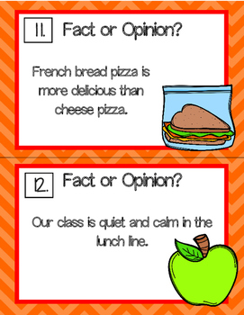 Lunch Time! Fact and Opinion Activities for Literacy Centers