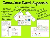 Lunch Time Visual Supports for Autism, ABA or Special Ed