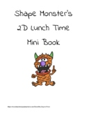 Shape Monster's 2d Lunch Time mini book