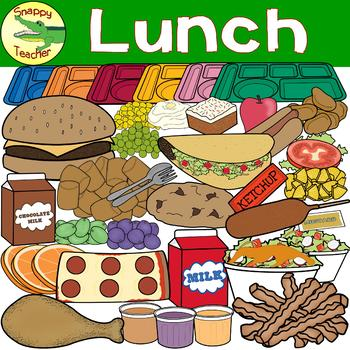 Lunch Trays and Food Clip Art