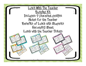 Lunch With The Teacher Placemats (Bundled Kit)