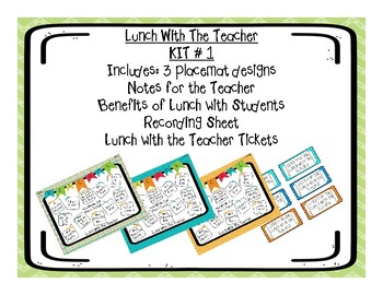 Lunch With The Teacher Placemats (Kit 1)