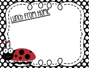 Lunch and Attendance Check in System with Ladybugs {Editable}
