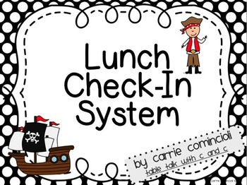 Lunch and Attendance Check in System with Pirates (Red and Black)