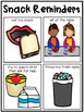 Lunch and Snack Time Visual Routine Reminder Charts and Read Alouds